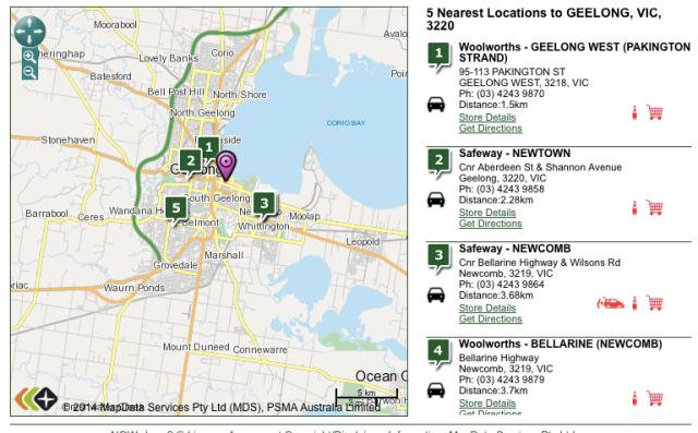 Woolworths locaties