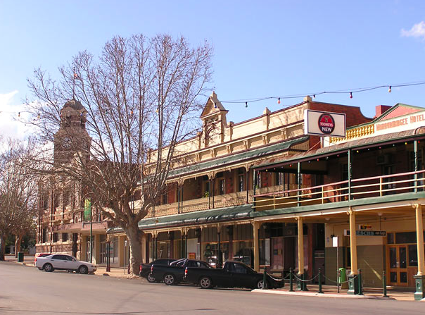 Straatbeeld Narrandera