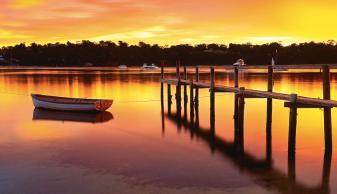 Sunset Merimbula Lake