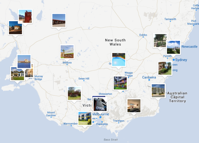 Onze route begint in Melbourne en gaat met de klok mee weer naar Melbourne