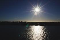 Zon over het meer
