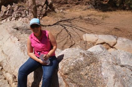 Michelle bij de fossielen