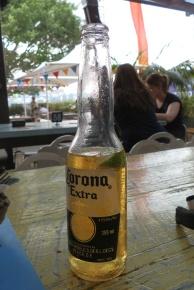 Lekker biertje aan de haven